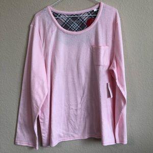 croft & barrow Plush Pink Pajama Top NWT